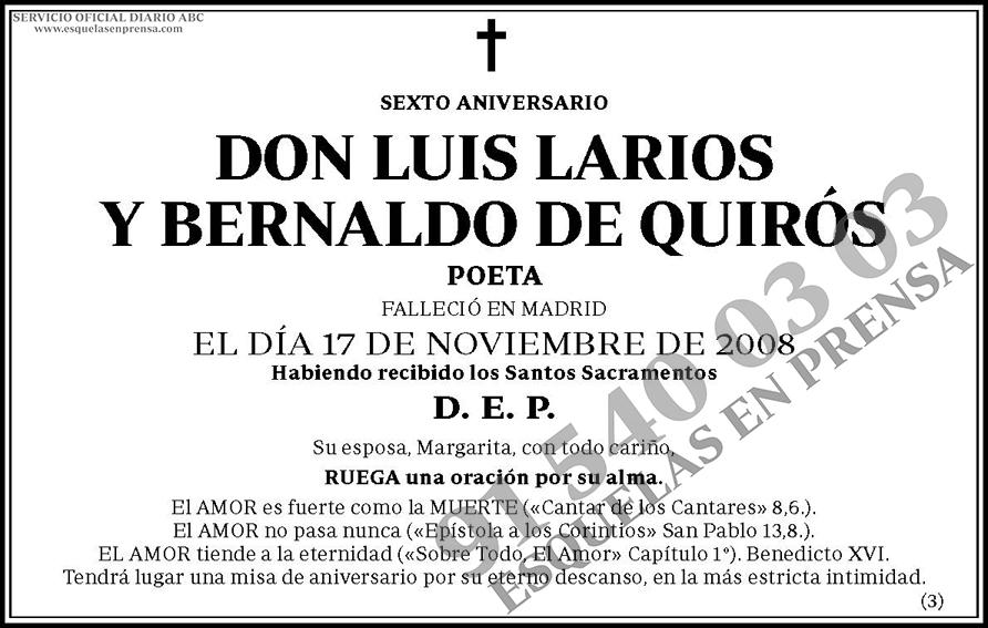 Luis Larios y Bernaldo de Quirós